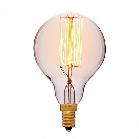 Лампа накаливания E14 40W шар золотой 053-624