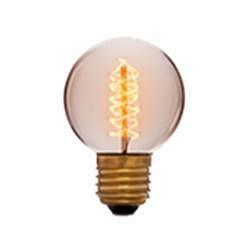 Лампа накаливания E27 25W шар золотой 053-648