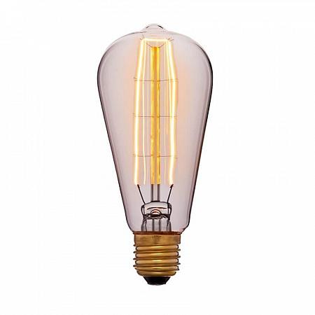Лампа накаливания E27 40W колба золотая 053-563