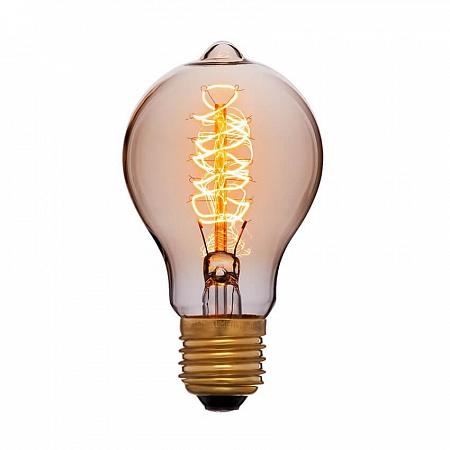 Лампа накаливания E27 60W груша золотая 053-617