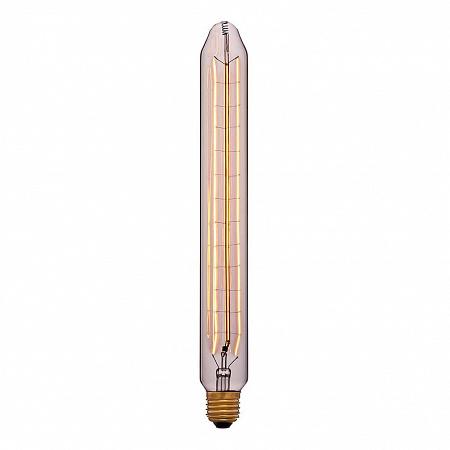 Лампа накаливания E27 60W трубчатая прозрачная 053-679