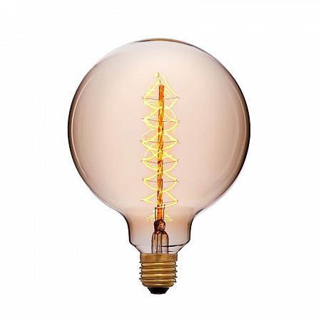 Лампа накаливания E27 60W шар золотой 053-662