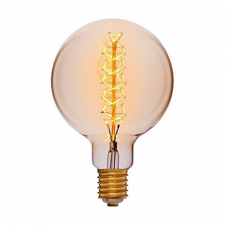 Лампа накаливания E40 95W шар золотой 053-693