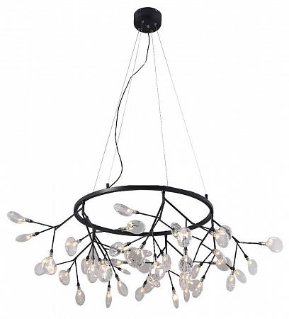 Подвесная светодиодная люстра Crystal Lux Evita SP45 D BLack/Transparent