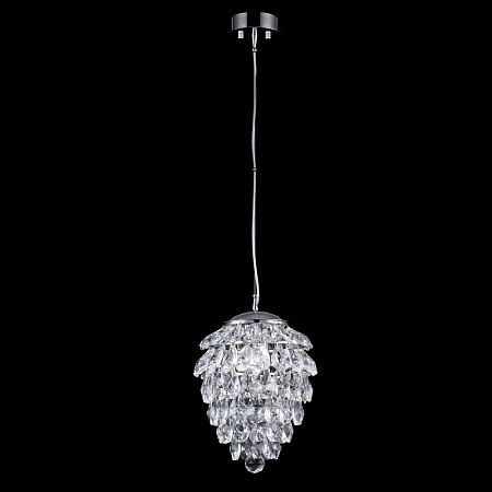 Подвесной светильник Crystal Lux Charme SP1+1 Led Chrome/Transparent