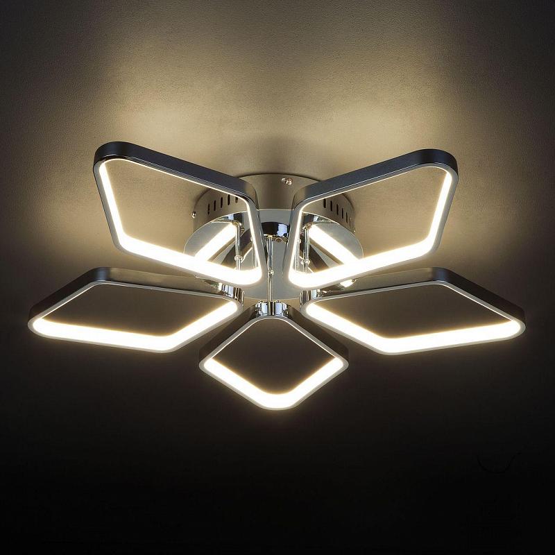 Потолочная светодиодная люстра Eurosvet Kalifea 90081/5 хром
