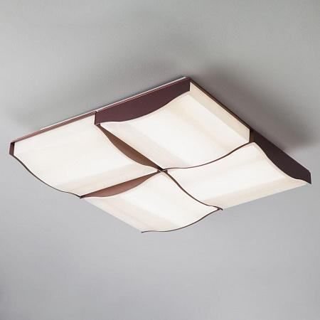 Потолочный светодиодный светильник Eurosvet Relief 90031/4 кофе