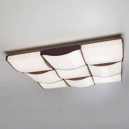 Потолочный светодиодный светильник Eurosvet Relief 90031/9 кофе