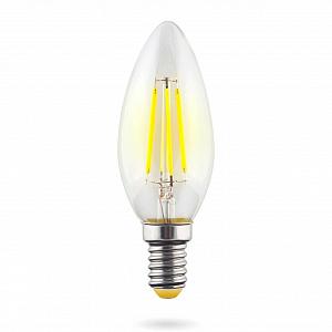 Лампа светодиодная E14 6W 4000К свеча прозрачная VG10-C1E14cold6W-F 7020