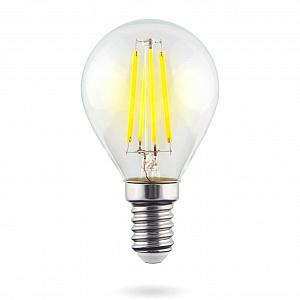 Лампа светодиодная E14 6W 4000К шар прозрачный VG10-G1E14cold6W-F 7022