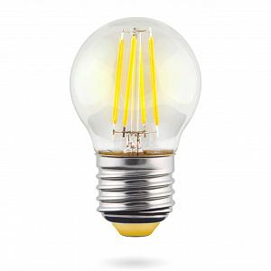 Лампа светодиодная E27 6W 2800К шар прозрачный VG10-G1E27warm6W-F 7023