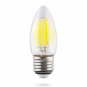 Лампа светодиодная E27 6W 4000К свеча прозрачная VG10-C1E27cold6W-F 7029