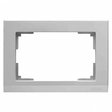Рамка Stark для двойной розетки серебряный WL04-Frame-01-DBL 4690389117206