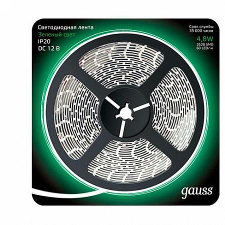 Светодиодная лента Gauss 5M зеленый 4,8W 3528SMD 60LED/m 312000605