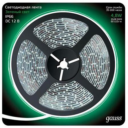 Светодиодная лента Gauss 5M зеленый 4,8W 3528SMD 60LED/m 311000605