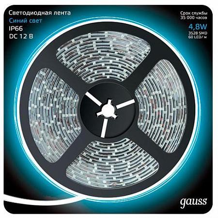 Светодиодная лента Gauss 5M синий 4,8W 3528SMD 60LED/m 311000505