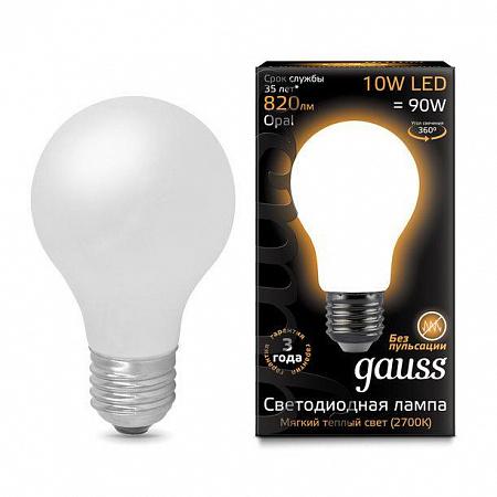 Лампа светодиодная филаментная E27 10W 2700К груша матовая 102202110