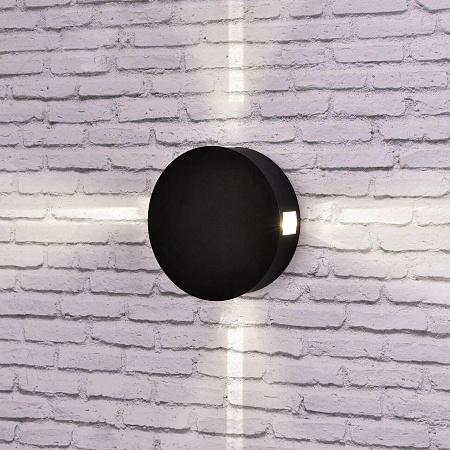 Уличный настенный светодиодный светильник Elektrostandard 1545 Techno LED Beam черный 4690389121654