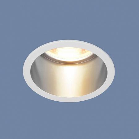 Встраиваемый светильник Elektrostandard 7004 MR16 WH/SL белый/серебро 4690389098482
