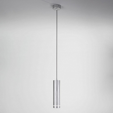 Подвесной светодиодный светильник Eurosvet Topper DLR023 12W 4200K хром матовый