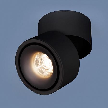 Светодиодный спот Elektrostandard DLR031 15W 4200K 3100 черный матовый 4690389123559