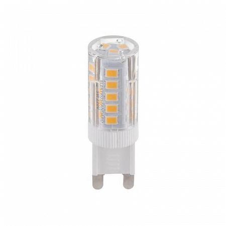 Лампа светодиодная G9 5W 3300K кукуруза прозрачная 4690389085666