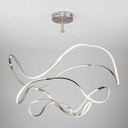 Подвесной светодиодный светильник Eurosvet Filmy 90109/3 сатин-никель