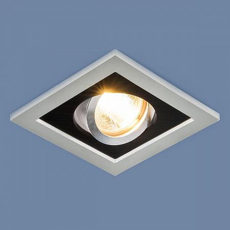 Встраиваемый светильник Elektrostandard 1031/1 MR16 SL/BK серебро/черный 4690389095405