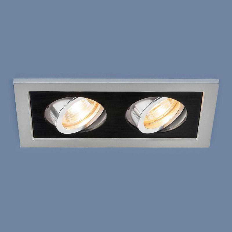 Встраиваемый светильник Elektrostandard 1031/2 MR16 SL/BK серебро/черный 4690389095436