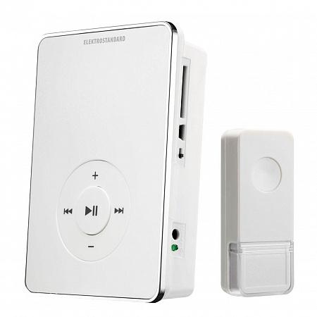 Звонок беспроводной Elektrostandard DBQ10M WL MP3 16M IP44 белый 4690389037375
