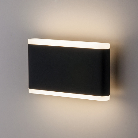 Уличный настенный светильник Elektrostandard 1505 Techno Led Cover чёрный 4690389128073