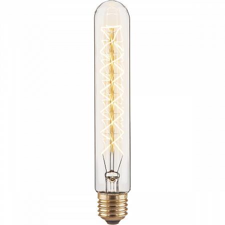 Лампа накаливания диммируемая E27 60W трубчатая прозрачная 4690389082146