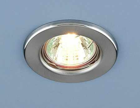 Встраиваемый светильник Elektrostandard 9210 MR16 SCH хром сатинированный 4690389055607