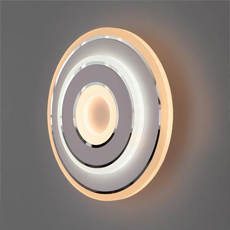 Настенно-потолочный светильник Eurosvet Contorni 90185/1 белый/хром