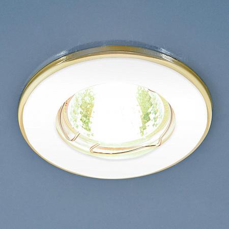 Встраиваемый светильник Elektrostandard 7002 MR16 WH/GD белый/золото 4690389082528