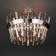 Потолочная люстра Eurosvet Steccato 10111/5 сатин-никель/прозрачный хрусталь Strotskis