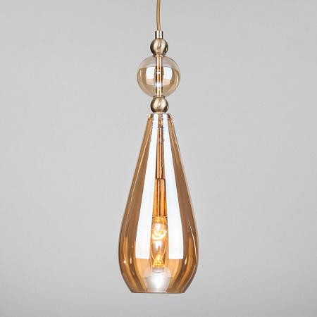 Подвесной светильник Eurosvet Ilario 50202/1 янтарный