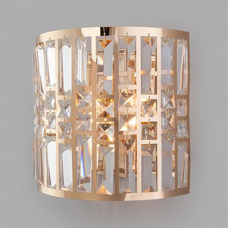 Настенный светильник Eurosvet Lory 10116/2 золото/прозрачный хрусталь Strotskis