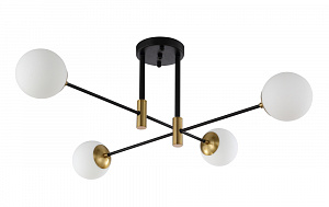 Потолочный светильник Crystal Lux Fidel PL4 Black