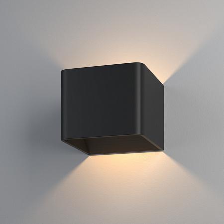 Настенный светодиодный светильник Elektrostandart Corudo LED чёрный (MRL LED 1060)