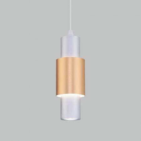 Подвесной светодиодный светильник Eurosvet Bento 50204/1 LED матовое серебро/матовое золото