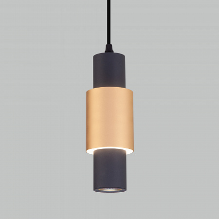 Подвесной светодиодный светильник Eurosvet Bento 50204/1 LED черный/матовое золото