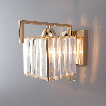 Настенный светильник Eurosvet April 10117/1 золото/прозрачный хрусталь Strotskis