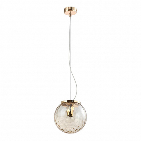 Подвесной светильник Crystal Lux MAYO SP1 D200 GOLD/AMBER