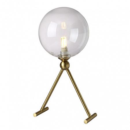 Настольная лампа Crystal Lux ANDRES LG1 BRONZE/TRANSPARENTE