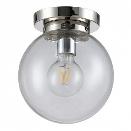 Потолочный светильник Crystal Lux MARIO PL1 D250 NICKEL/TRANSPARENTE