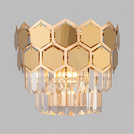 Настенный светильник Eurosvet Ariana 10113/2 золото/прозрачный хрусталь Strotskis