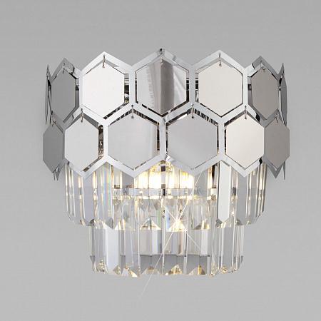 Настенный светильник Eurosvet Ariana 10113/2 хром/прозрачный хрусталь Strotskis
