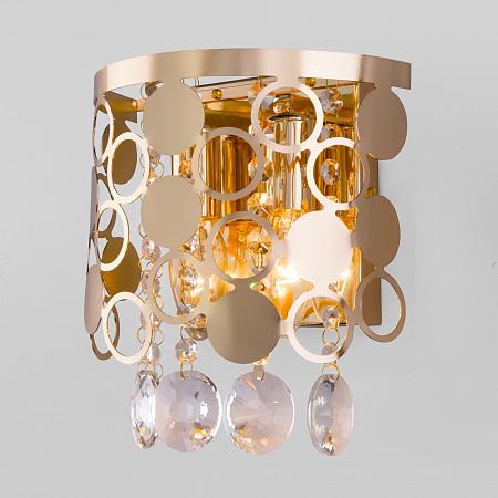 Настенный светильник Eurosvet Lianna 10114/2 золото/прозрачный хрусталь Strotskis