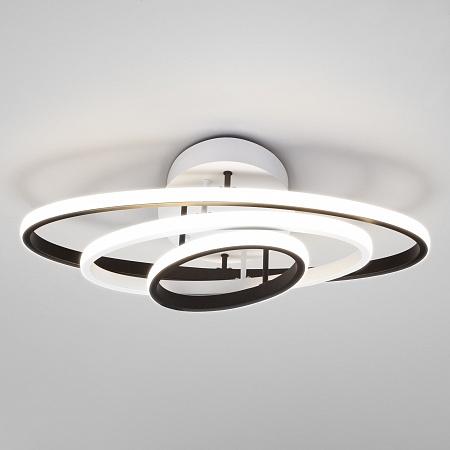 Потолочный светодиодный светильник Eurosvet Lauda 90237/3 белый/черный